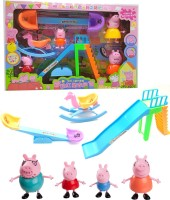 AncientKart See Saw Set & Action Figures Set of 4 Family Members(Multicolor)