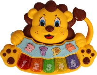 Chocozone Lion Musical Piano with Animal Sounds & Lights Musical Toys for Kids & Toys for 2 years old(Multicolor)