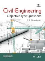 Civil Engineering - Objective Type Questions 1 Edition(English, Paperback, S.S. Bhavikatti)