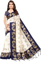 Pisara Printed, Animal Print Daily Wear Art Silk Saree(Dark Blue)