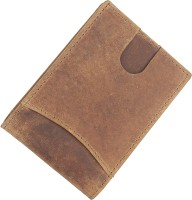 treewood Men Formal, Trendy, Evening/Party Tan Genuine Leather Card Holder(10 Card Slots)