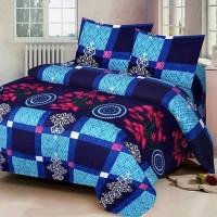 Home Decor LK 140 Thread Count Polycotton Multicolor Double Bedsheet