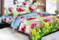 Home DECOR Lk 140 Thread Count Polycotton Blue Double Bedsheet