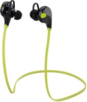 HSBMART Sports Blue Bluetooth Headphone/ Sports Bluetooth Earphone Compatible for All Android/Windows/ ios /mac Support Mobile Bluetooth Headset with Mic(Green, In the Ear)