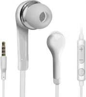 BJOS Classic Smart Earphone For All Smart Mobiles 3.5mm Jack (IN THE EAR) PLKJ7894 Headset with Mic (White, In the Ear) Wired Headset with Mic(White, On the Ear)