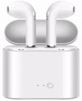 NICK JONES i7s True Wireless Bluetooth Earbuds with Charging Cable Bluetooth Headset with Mic(White, In the Ear)