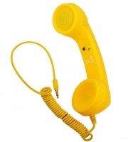 nick jones COCO PHONE 3.5mm Wired Retro Handset with Mic Wired Headset with Mic(Yellow, On the Ear)