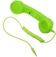 nick jones COCO PHONE Wired Retro Handset P5 with Mic (Over the Ear) Wired Headset with Mic(Green, On the Ear)