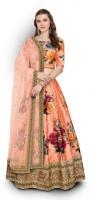 Zeel Clothing Orange Lehenga