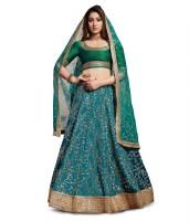 Zeel Clothing Green Lehenga