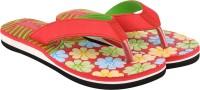 World Wear Footwear 9045 Red Exclusive Range OF Flip Flops For Women