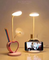 Arroha Heart Shape Multifunctional Table lamp with Mobile Phone Holder(Pink)