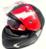 LS2 Velvet Gloss Black Grey Motorbike Helmet(Multicolor)
