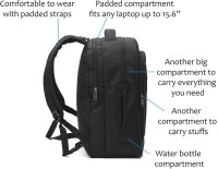 LeeRooy SSENT-LEE-BLK-0702019 25 L Backpack Black