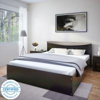 Flipkart Perfect Homes Carol Engineered Wood Queen Bed(Finish Color -  Espresso)