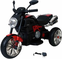 Ayaan Toys Ride 3 Wheel Battery Operated Ride On Bike for Kids, 2 to 4 Years with Rear Suspension , Black Bike Battery Operated Ride On(Red, Black)