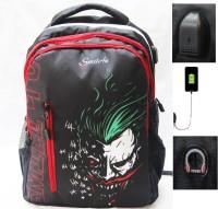 smile4u Laptop Backpack Black 35 L Laptop Backpack 35 L Laptop Backpack(Black, Red)