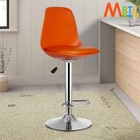 MBTC Orange Natural Fiber Bar Chair(Finish Color - Orange)