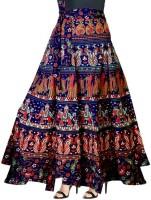 UrbanEra Floral Print Women Wrap Around Multicolor Skirt