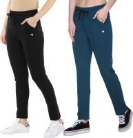 Modeve Solid Women Green, Black Track Pants