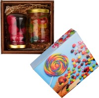 House Of Candy Raspberry Gummy Blast - Wooden Box, Non-Assorted Sweet Jar, Gummy Bears Jar w/ Fruity Candies, Fizzy Sweets Mix Flavor Candy(170 g)