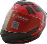 LS2 Iron Face Gloss Black Red Motorbike Helmet(Black, Red)