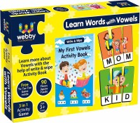 Webby Learn Words with Vowels Jigsaw Puzzle with Activity Book, 90 Pcs(90 Pieces)