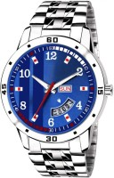 fizz FIZZ86 BLUE DIAL AND SILVER STRAP WATCH Analog Watch  - For Men