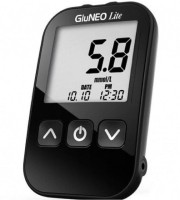 K-life GluNeo Lite Blood glucose monitor ( With 25 Strip With 10 lancet and pan & mete kit.) Glucometer(Black)
