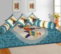 DREAM BEAUTIFUL INDIA 250 TC Cotton Single Jaipuri Prints Bedsheet(Pack of 1, Multicolor)