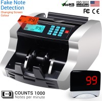 Gold Standard (USA) Portable LCD Digital Electronic Money Counter Currency Counting Machines with Automatic Fake Note Detection For Old New Foreign Cash Bank Note Counting Machine(Counting Speed - 1000 notes/min)