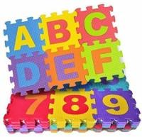Happy GiftMart 36 Pcs Eva Foam Puzzle Mats Interlocking Learning(36 Pieces)