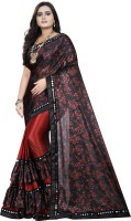3Buddy Fashion Floral Print Fashion Lycra Blend Saree(Red)