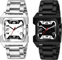 Rich Club (RC-5064+5065) Combo Of Two Stylish Black And White Analog Watch  - For Men