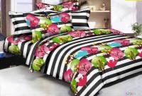 Home Decor LK 135 Thread Count Polycotton Multicolor Double Bedsheet