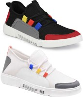 World Wear Footwear-(Combo-(2)-9096-9097) Stylish Casual Sneakers Loafers Shoes For Men (Multicolor)