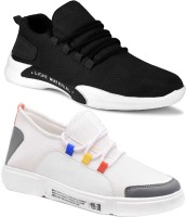 World Wear Footwear-(Combo-(2)-9070-9097) Stylish Casual Sneakers Loafers Shoes For Men (Multicolor)