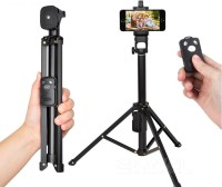 Perfect Nova (Device Of Man) VCT-1688 3in1 Bluetooth Remote Shutter Handle Selfie Stick Mini Table Tripod(Black, Supports Up to 1500 g)