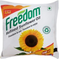 Freedom Refined Sunflower Oil Pouch(500 ml)