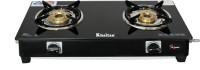 Khaitan 2 Burner BP Nano Premium MS Black Glass Manual Gas Stove(2 Burners)