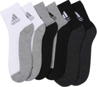 ADIDAS Men & Women Solid Ankle Length(Pack of 3)