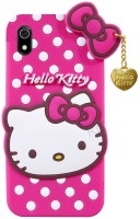 Trendzmy 3D Cute Hello Kitty Silicone with Pendant Back Case Cover for Vivo Y69