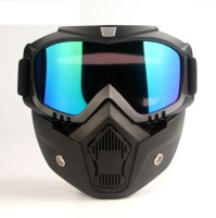 Vizzard VZFM Motorcycle Face Mask Shield Goggles Off Road Motocross (Pack Of 1) Motorcycle Goggles VZ11 Motorcycle Face Mask Shield Goggles Off Road Motocross (Pack Of 1) Motorcycle Goggles Power Tool  Safety Goggle(L)