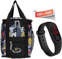 Good Friends Branded Tiffin Bags Bro0126 Waterproof Lunch Bag(Grey, 4 L)
