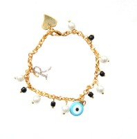The Bling Stores Alloy Pearl Gold-plated Bracelet