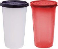 Kuber Industries Virgin Plastic Everday Small Glass 2 Piece Tumbler/airtight Container Leakproof Storage with Lid 350ml (Multi)  - 350 ml Plastic Utility Container(Pack of 2, Multicolor)