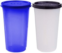 Kuber Industries Virgin Plastic Big Everday Big Glass 2 Piece Tumbler/airtight Container Leakproof Storage with Lid 500ml (Multi)  - 500 ml Plastic Utility Container(Pack of 2, Multicolor)