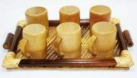 Bengal Handicrafts & Handlooms Pack of 7 Bamboo BMCT-003-001(Brown)