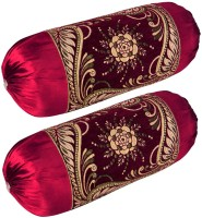 Shopway Collection Paisley Bolsters Cover(Pack of 2, 40 cm*75 cm, Maroon)