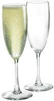 RELOZA (Pack of 2) Wine Glasses Champagne Flute Set of 2 (Champagne Flute Glass, 200 ML) Glass(200 ml, Glass)